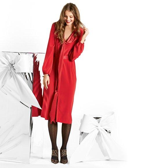 Як пошити яскраву сукню з коміром-шарфом  майстер-клас з шиття ... 17854357d993c