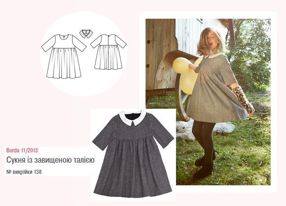 Сукня із завищеною талією в стилі бебі-долл цілком може бути шкільною 2cf5b73dc2208