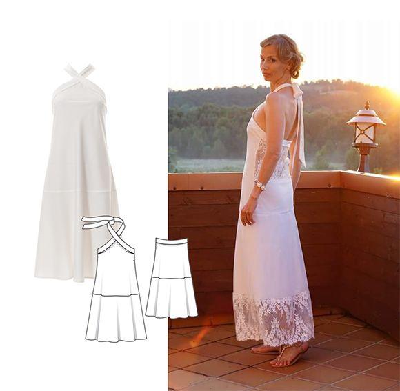 d1e51fece0761b Цікаво було побачити і першу весільну сукню Наталі, створену нею теж за  викрійкою Burda 1991 р.