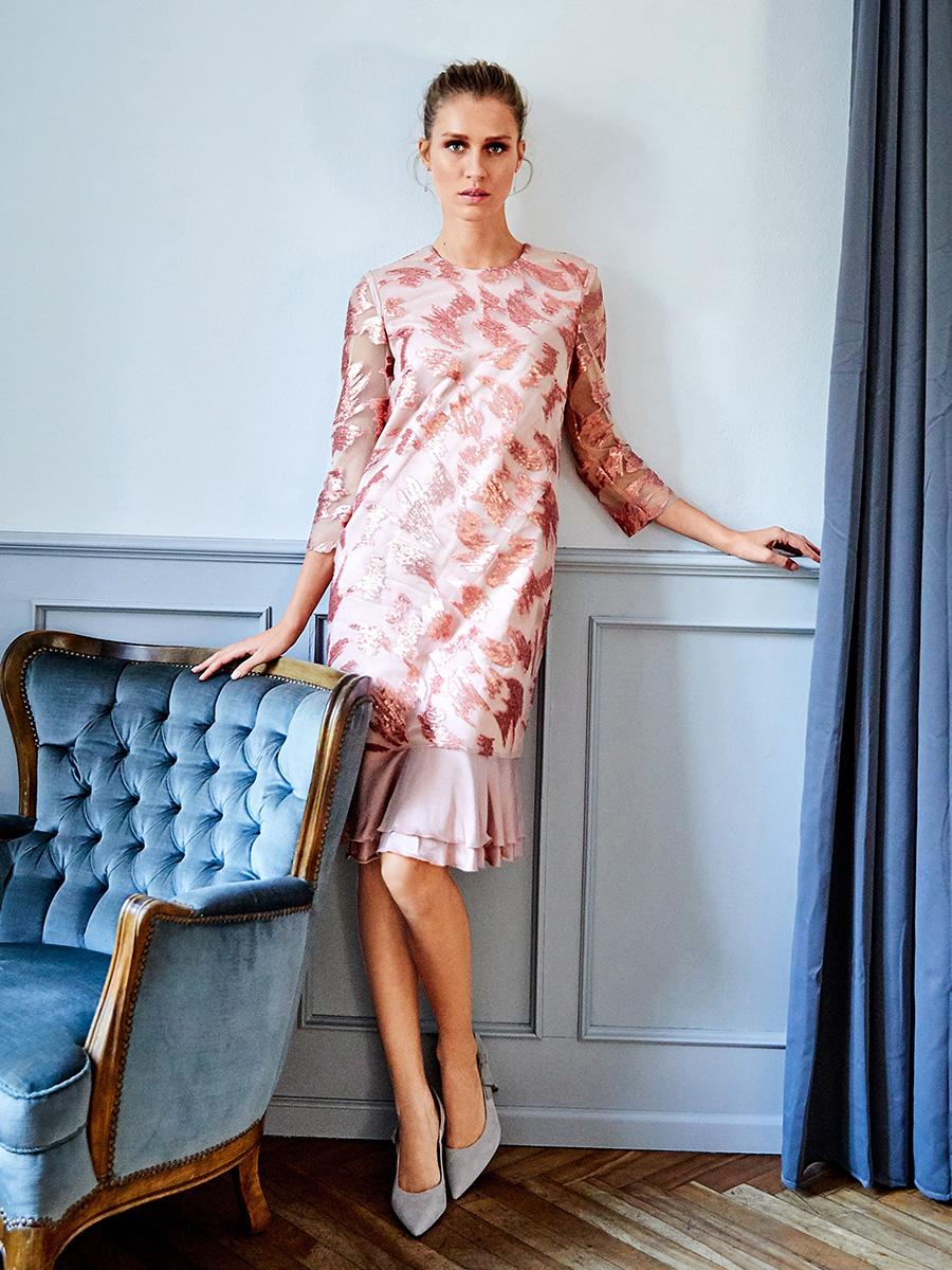 f5ad989b01de56 Викрійка Сукня двошарова з рукавами 3/4: купити викрійки, пошиття і ...