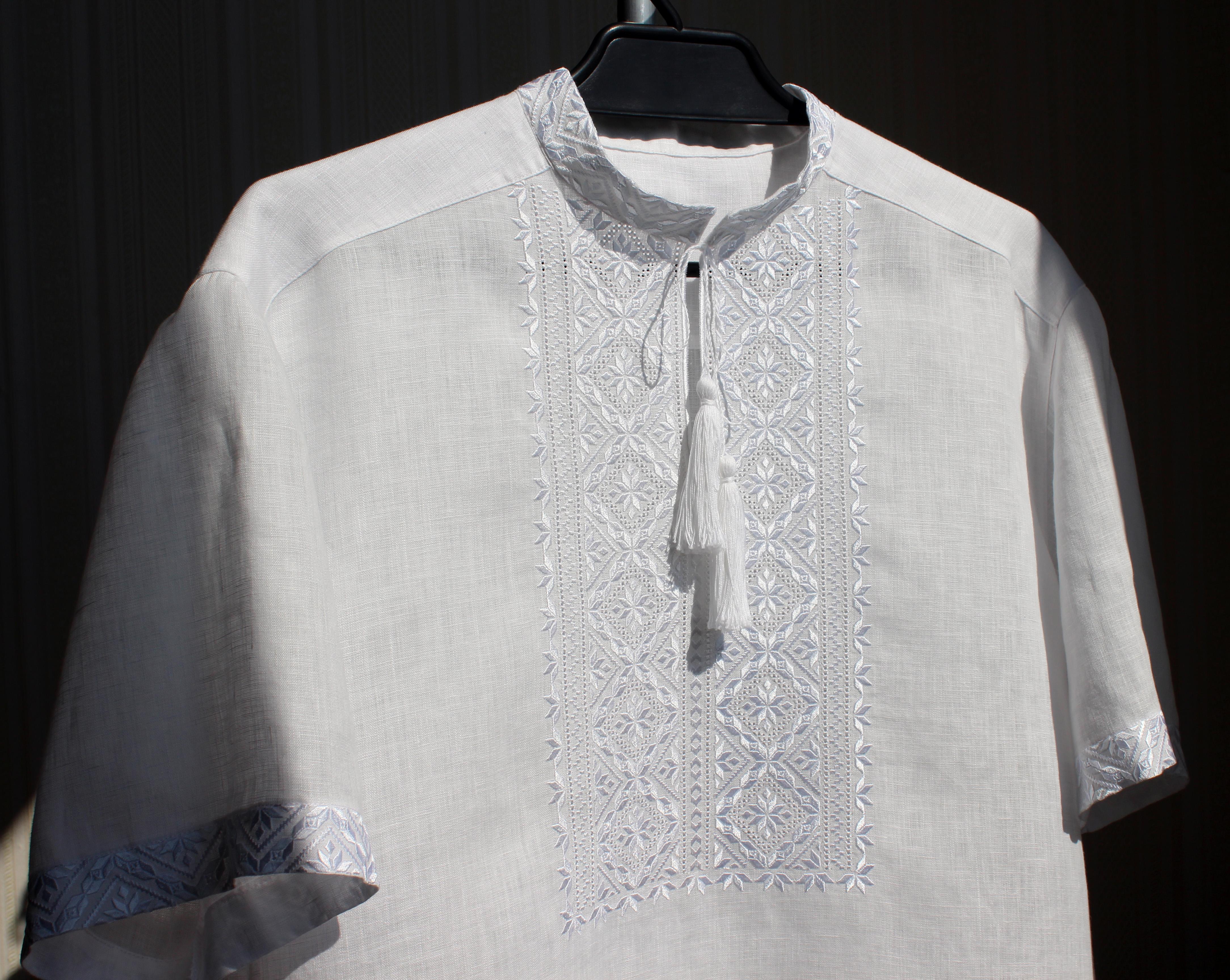 Чоловіча вишиванка білим по білому  c5e10b3c31c14