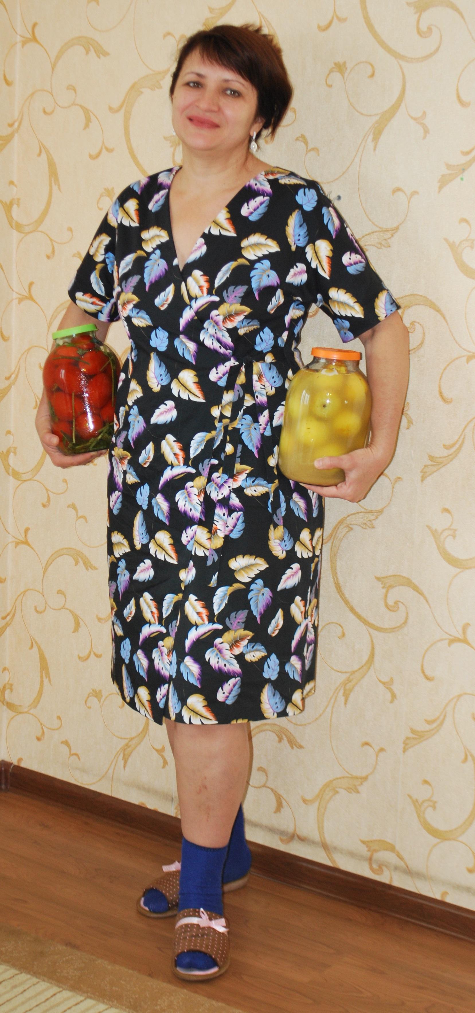 Домашній халат або сукня з запахом  8f1c9f5e39aeb