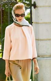 Шиємо шовкову блузу в стилі Грейс Келлі