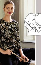 """Як пошити оригінальну блузку з """"третім"""" рукавом"""