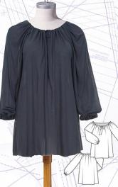 Як пошити зручну трикотажну блузу з вирізом кармен