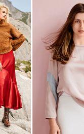 Стильні комплекти з блузою і пуловером