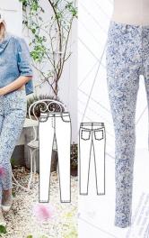 Як пошити вузькі джинси з п'ятьма кишенями