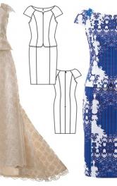 Шиємо сукню-футляр з баскою