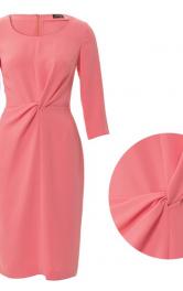 Сукня-футляр з вузлом-драпіровкою: як це робиться