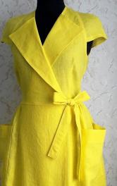 Майстер-клас: шиємо лляну сукню з запахом
