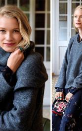 Як пошити теплий пуловер зі знімним коміром хомутом
