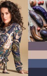 Одяг в баклажанових кольорах