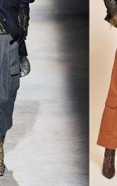 Модная модель брюк карго для осени