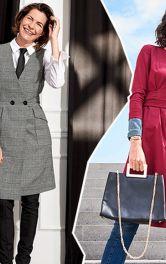 Як створти модні образиіз брюками і сукнею