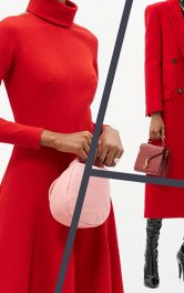 Модні моделі червоних пальт на осінь