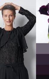 Блузки з воланами чорного і темно-синього кольору