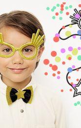 Яскраві прості новорічні аксесуари для дітей
