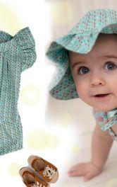 Панама, пісочник та інший літній одяг для дівчаток