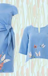 Декоруємо одяг метеликами з шифону