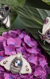 Як зробити брошку у вигляді метелика