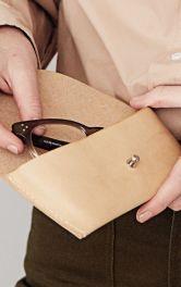 Шкіряний чохол для окулярів власноруч