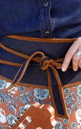 Як пошити джинсовий пояс обі власноруч