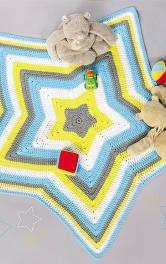 Як сплести гачком дитячий килимок у формі зірки