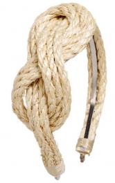 Обруч для волосся з мотузки власноруч