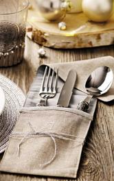 Як зробити саше для столових приборів власноруч