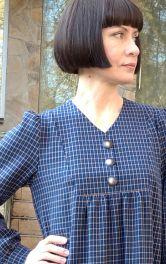 Довга сукня з пластроном Burda 11/2020 модель 111