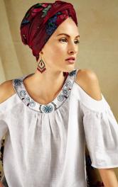 Як вишити планку горловини блузки