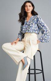Женская блузка расклешенного кроя Burdastyle