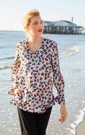 Жіноча блуза просторого крою Burdastyle