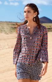 Жіноча блузка з рукавами-розтрубами Burdastyle