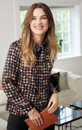 Жіноча атласная блуза Burdastyle фото 1