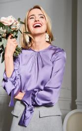 Жіноча атласна блуза Burdastyle