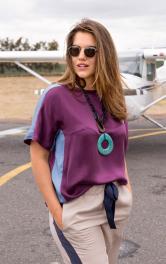 Жіноча блузка у стилі колор-блокінг Burdastyle