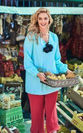 Жіноча блузка простого крою Burdastyle