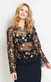 Жіноча мереживна блузка Burdastyle