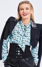 Жіноча блузка з бантом Burdastyle