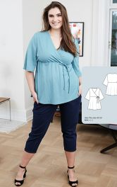 Жіноча трикотажна блузка Burdastyle