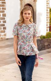 Жіноча блуза з баскою Burdastyle