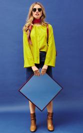 Жіноча блузка з рукавами реглан Burdastyle