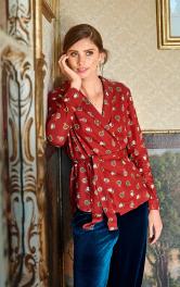 Жіноча блузка з шалевим коміром Burdastyle
