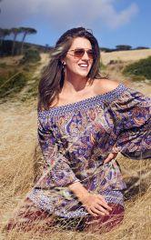 Жіноча блузка з вирізом кармен Burdastyle