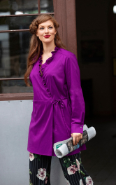 Жіноча блузка з оборками Burdastyle