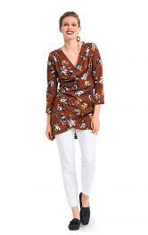 Жіноча блузка з драпіровками Burdastyle