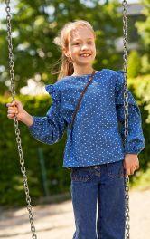 Детская блузка прямого кроя Burdastyle