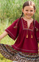Дитяча блузка в етно-стилі Burdastyle