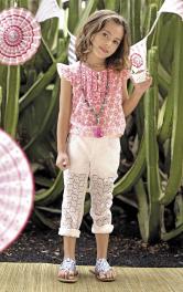 Дитяча блузка з рукавами крильцями Burdastyle